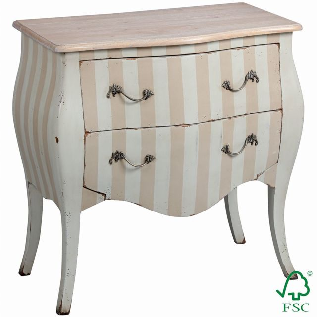 Altobuy Lissa - Commode 2 Tiroirs