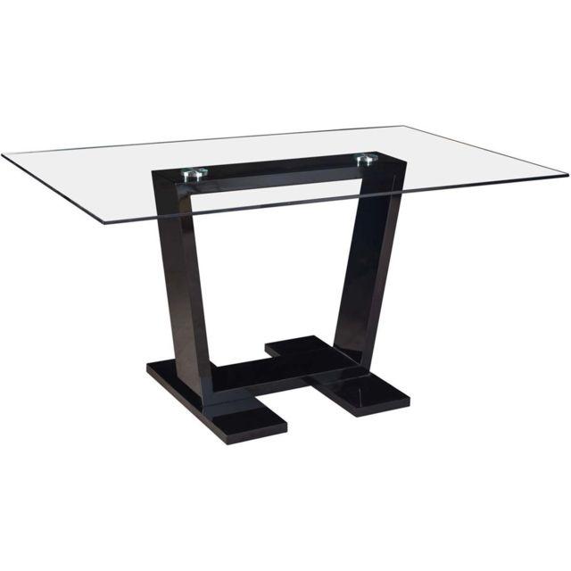 HABITAT ET JARDIN Table repas Bina - 150 x 90 x 75 cm - Noir