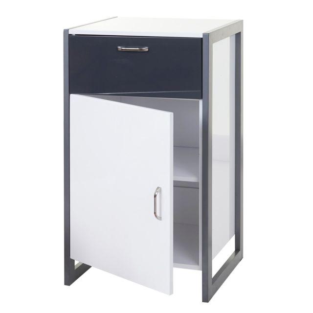 Mendler Commode Hwc-b27, 90x50x40, blanc et gris