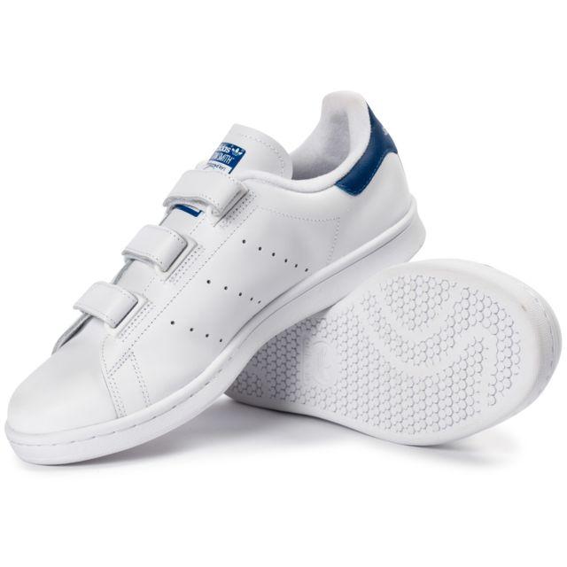 adidas stan smith scratch bleu femme