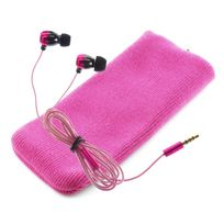 Kitsound - Ecouteurs intra auriculaires Ks1 + housse- Rose