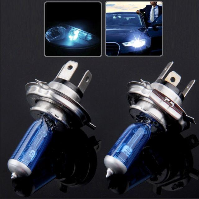 wewoo ampoule voiture halog ne h4 de phare de super blanc 12 v 55w 6000k 1700 lm paire. Black Bedroom Furniture Sets. Home Design Ideas