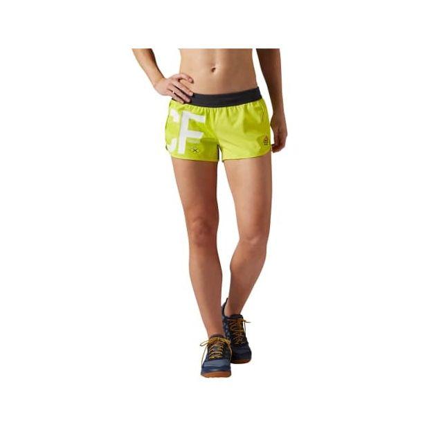 Reebok Short CrossFit Ass to Ankle Short jaune femme pas