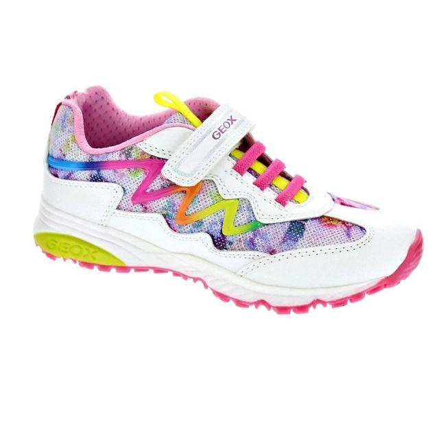 aabb3e87e8d3a Geox - Chaussures Fille Baskets modele Bernie - pas cher Achat   Vente  Baskets enfant - RueDuCommerce