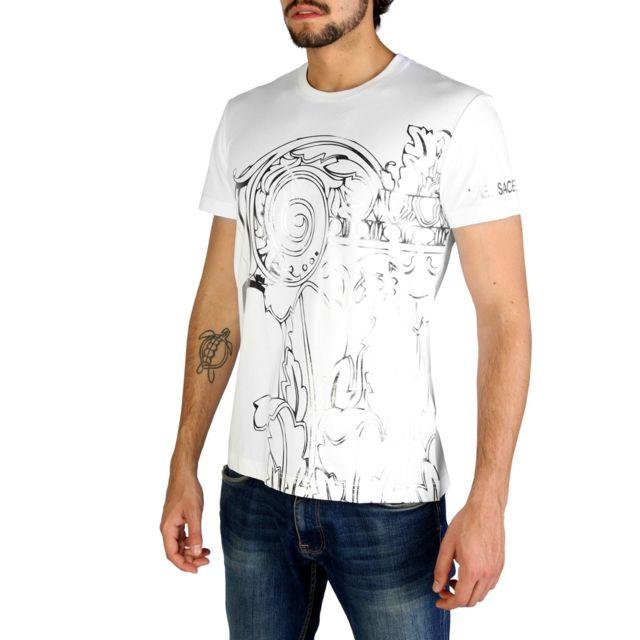 Versace - Jeans - T-shirt imprimé homme - Blanc - pas cher Achat   Vente  Tee shirt homme - RueDuCommerce dd9a090c1231