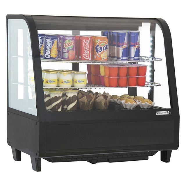 CASSELIN vitrine réfrigérée à poser 100l noir - cvr100ln