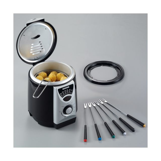 Severin - Fr 2408 - Friteuse - 840 W - 950 ml - Noir/Argent
