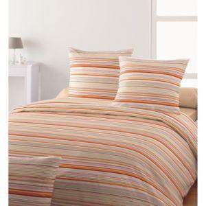 santens parure de couette coton endless 220x240 cm 2 taies 63x63 cm orange pas cher. Black Bedroom Furniture Sets. Home Design Ideas