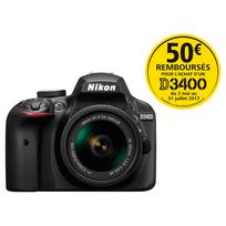 appareil photo reflex - d3400 18-55 70-300