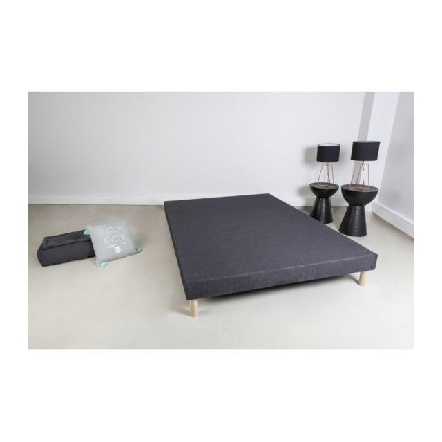 france matelas sommier tapissier gris anthracite bois. Black Bedroom Furniture Sets. Home Design Ideas