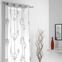 Marque Generique - Voilage 140 x H240 cm, Looping Blanc