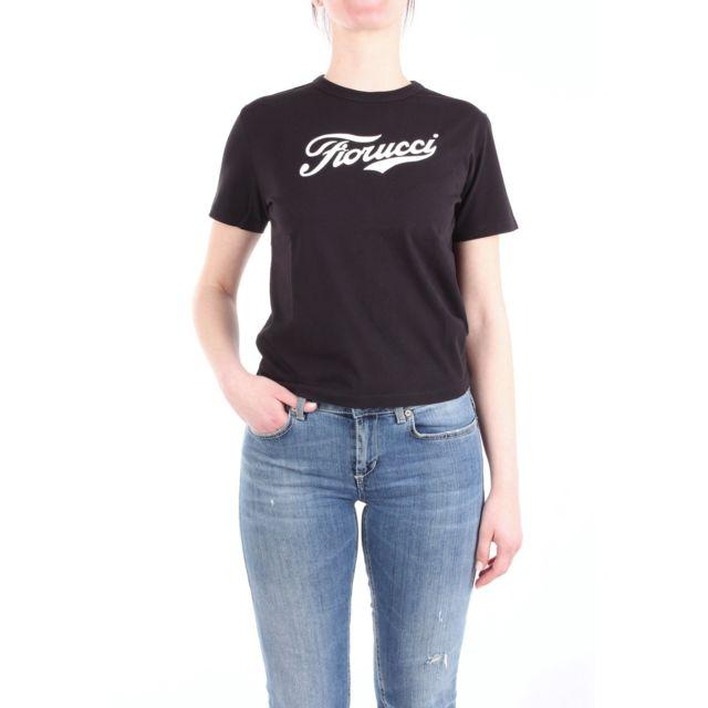 Fiorucci Femme Cola002BLACK Noir Coton T-shirt