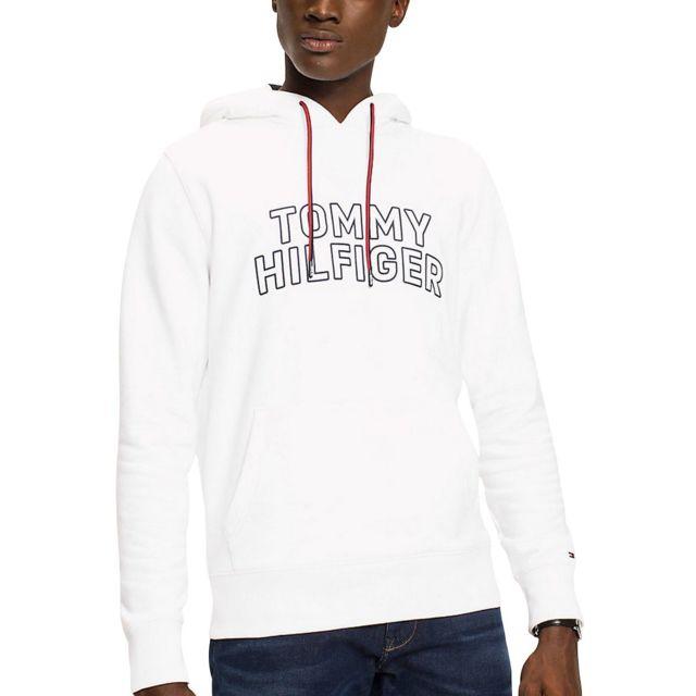 Tommy hilfiger - Tommy Chest Logo Hoo - pas cher Achat   Vente Sweat homme  - RueDuCommerce cb119c529233