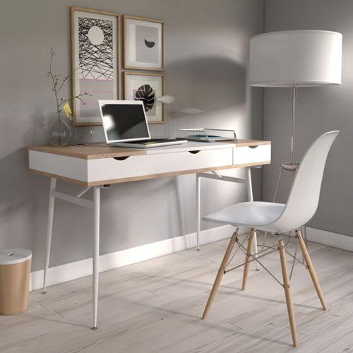 no name bureau bari blanc et ch ne pas cher achat vente bureaux rueducommerce. Black Bedroom Furniture Sets. Home Design Ideas