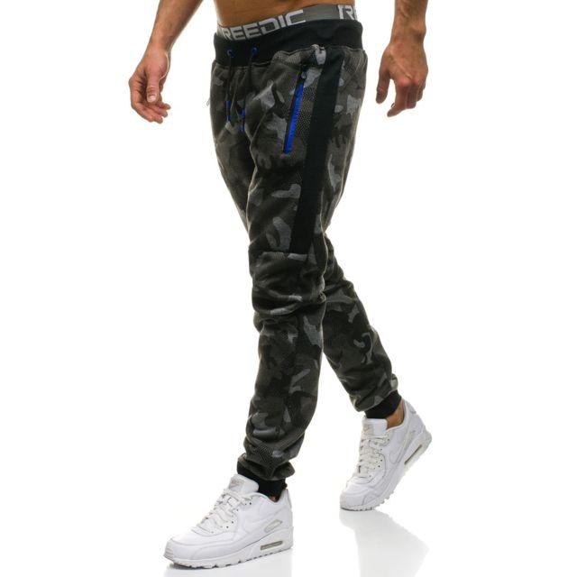 ba63e6fb79ab14 Camouflage Noir Pas Tendance M835 Pantalon Jogging Monsieurmode ZfxpqwUn