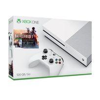 MICROSOFT - Xbox One S 500 Go + Battlefield 1