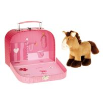 Sigikid - Peluche cheval dans sa valise