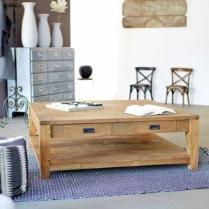 bois dessus bois dessous table basse carr e teck recycle 120cm bois pas cher achat vente. Black Bedroom Furniture Sets. Home Design Ideas