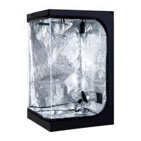 OUTSUNNY - Chambre de culture hydroponique tente de culture grow box 1,2L x 1,2l x 2H m polyester mylar noir