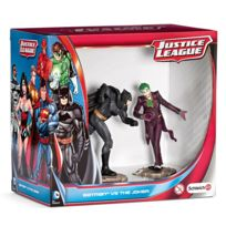 Schleich - Figurines super héros : Justice League Scenery Pack : Batman contre le Joker