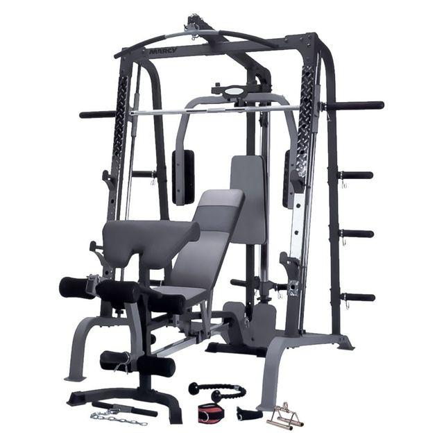 Marcy Appareil De Musculation Machine Et Banc Deluxe Sm4000 Pas
