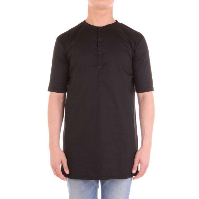 Numero 00 Numero00 Homme 1131BBLACK Noir Coton T-shirt