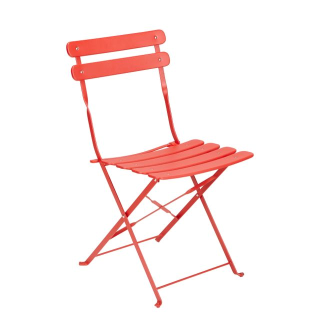 carrefour chaise bistrot pliante rouge - Chaise Bistrot Rouge