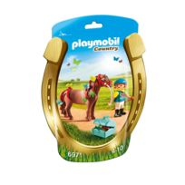 PLAYMOBIL - COUNTRY - Poney à décorer 'Papillon