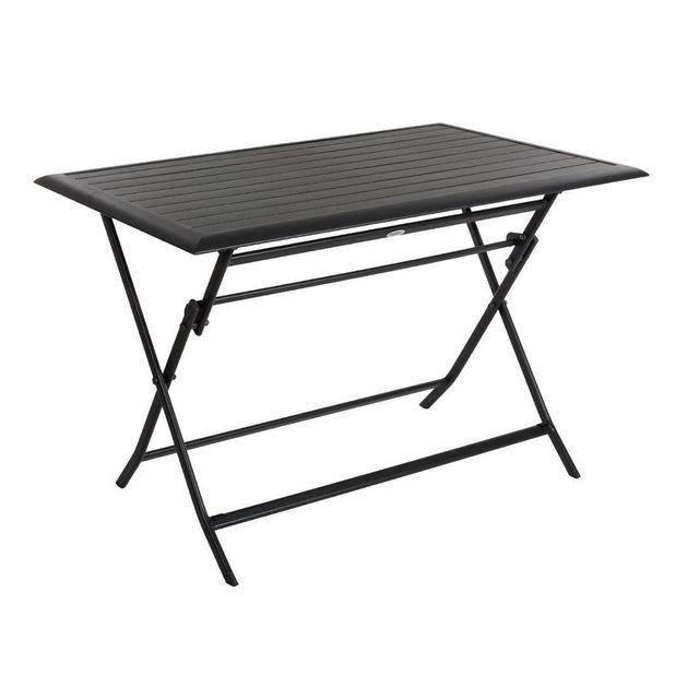 Hesperide table de jardin rectangulaire azua 4 places graphite pas cher achat vente tables - Table de jardin hesperide azua ...