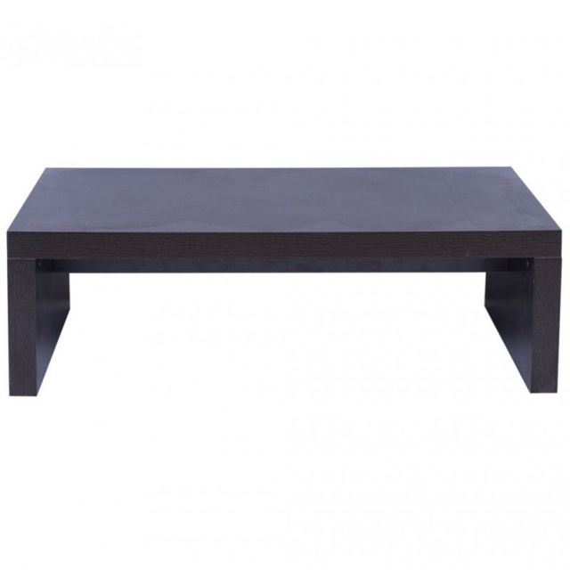 Mobili Rebecca Table Basse Table D'Appoint Marron Foncé Bois Style Moderne Salon