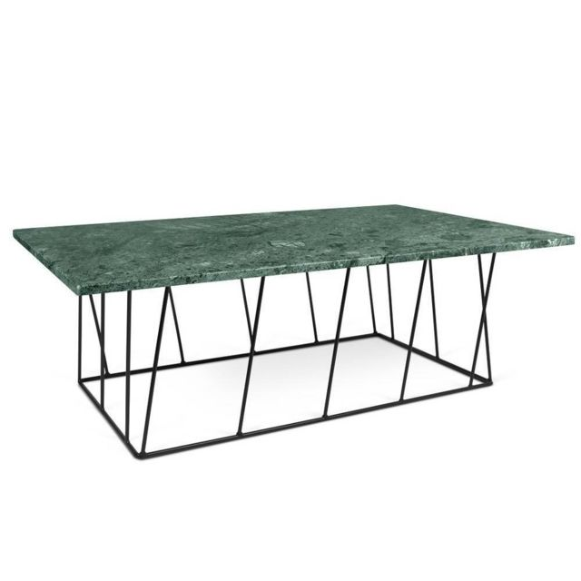 Inside 75 Table Basse Helix 120 En Marbre Vert Bi Color 40cm X