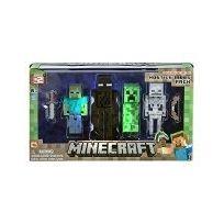 Jazwares - Minecraft - Pack 4 Figurines Mobs 8 Cm