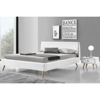 cadre lit bois massif achat cadre lit bois massif pas cher rue du commerce. Black Bedroom Furniture Sets. Home Design Ideas