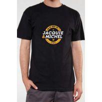 Jacquie Et Michel - T-shirt Jacquie & Michel Noir Blanc et Jaune