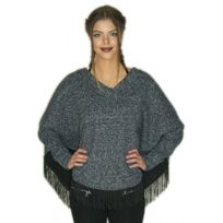 Jennessys - Pull Poncho bleu chaud made in France fabrication France
