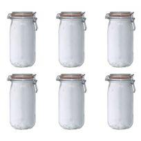 LE PARFAIT - lot de 6 bocaux en verre 1.5l - 900508