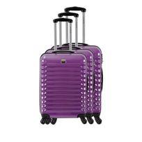France Bag - Set de 3 Valises Rigide Abs et Polycarbonate 4 Roues 55-65-75cm Violet