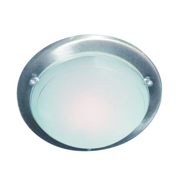 plafonnier rond 30 cm en argent satine et verre 5 Meilleur De Plafonnier Rond Verre Hiw6