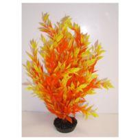Labeo - Décoration Plante en Plastique Buisson - Orange
