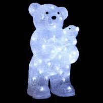 Feerie Lights - Guirlande de noël lumineuse d'extérieur Maman et bébé ours - Blanc
