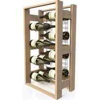 Visiorack - Meuble de rangement en bois de 16 bouteilles Magnum - Hêtre Naturel Aci-vis304