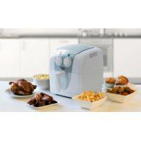 Bestron - Friteuse à air chaud - PrepAir - Blanc - Minuterie - Recettes - Pour frites, poulet, viande, poisson, légumes, cupcakes