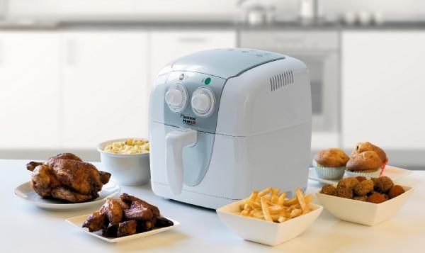 Friteuse à air chaud - PrepAir - Blanc - Minuterie - Recettes - Pour frites, poulet, viande, poisson, légumes, cupcakes