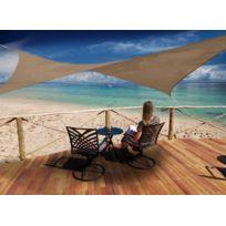 JARDIDECO - Voile d'ombrage rectangulaire 4 x 3 m - Austral - Brun havane