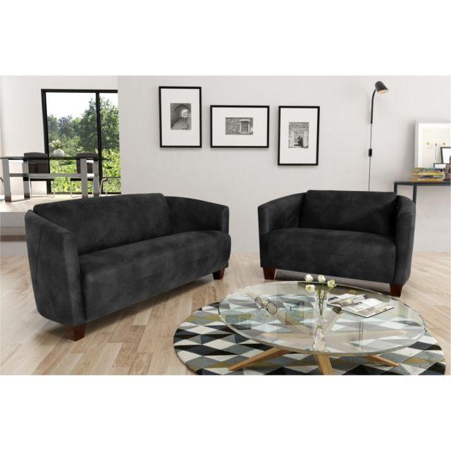Rocambolesk Canapé Havana 3+2+1 Tobago 17 antracite sofa divan
