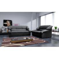 Relax design - Canapé Paloma dolaro noir 2 places sofa divan