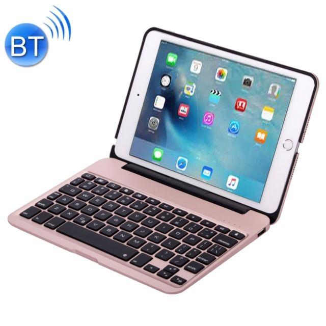 wewoo clavier qwerty or rose pour ipad mini 4 portable pliable en alliage d 39 aluminium sans fil. Black Bedroom Furniture Sets. Home Design Ideas
