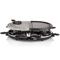 PRINCESS - appareil à raclette 8 personnes 1200w + pierre à griller + gril - 162710-01-001