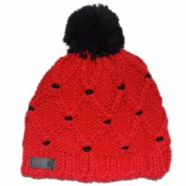 Elm - Bonnet pompon York red pom beanie