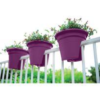 Elho - Pot de fleurs spécial balcon 30cm fuchsia